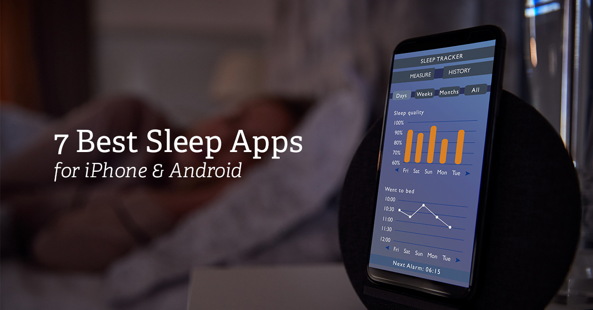 Woman uses sleep app